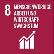 SDG8 - Menschenwürdige Arbeit und Wirtschaftswachstum