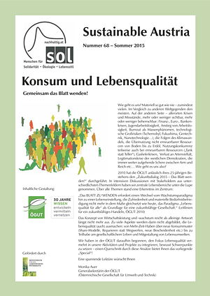 Cover Sustainable Austria Nr. 68
